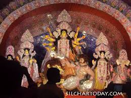 Decoration Of Durga Puja Pandal Itkhola Silchar Durga Puja Pandal Idol Decoration Lighting 2017