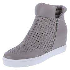 womens boots size 12 medium boot womens wedge sneaker hi top suede wedge sneakers