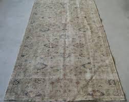 Large Low Pile Rug Oushak Rug Turkish Rug Vintage Rug Area Carpet Anatolian