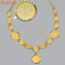 necklace coin images Anniyo new arabic coin necklace for women gold color arab africa jpg