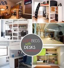 Bunk Beds With Desk Underneath Plans by Loft Beds With Desks Underneath 30 Design Ideas With Enigmatic Touch