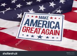 American Flag Words Resolution American Flag Sign Make America Stock Photo 307140605
