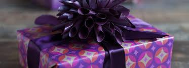 purple gift wrap glamorous gift packaging in pretty purple and fuchsia