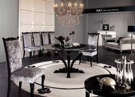 Black Gloss Dining Room Furniture Modern High Gloss Dining Table Set Furniture In Black Features
