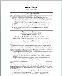 sample resume for restaurant server resume examples your name