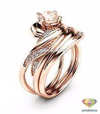Rose Gold Wedding Ring Sets by Morganite Rose Gold 10k Engagement U0026 Wedding Ring Sets Ebay