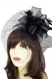 funeral veil black birdcage veil hairband fascinator funeral fascinaors