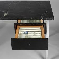 White Marble Desk by Florence Knoll Knoll Editor Chromed Steel And Marble Desk