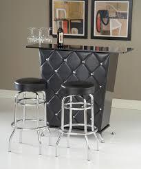 home bar design black vinyl crystal studs home bar set by bernards home gallery