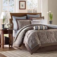 Home Essence Comforter Set Comforter Set Madison Park Whitman 12 Piece Aubrey Paisley Blue