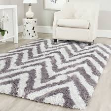 Grey Shaggy Rugs Gray And White Shag Rug Roselawnlutheran