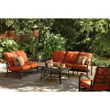 Paprika Sofa Thomasville Messina 4 Piece Patio Sectional Seating Set With