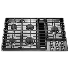 Electric Cooktop With Downdraft Ventilation Kitchenaid 36 In Gas Downdraft Cooktop In Stainless Steel With 5