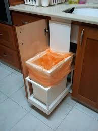kitchen cabinet trash pull out under sink pull out trash can drawer base cabinet trash pull out
