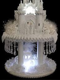 Wedding Cake Castle Cinderella Castle Wedding Cake Topper With Swarovski Crystals