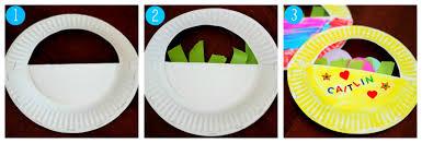 toddler approved paper plate easter basket