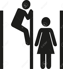 spying toilet cabine royalty free cliparts