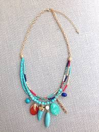 Handmade Seed Beaded Gold Plated Seed Bead Pendant Necklace Boho Bohemian Statement By Maikiwi