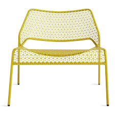 Yellow Patio Chairs Mesh Lounge Chair Metal Lounge Chair Dot