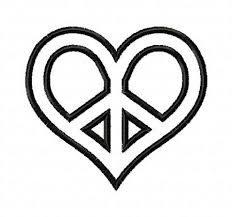 applique shaped peace sign machine embroidery design