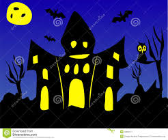 scary halloween or haunted house stock illustration image 40083177