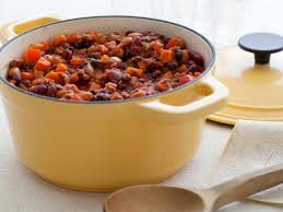 all american chili cooking light three bean and beef chili recipe ellie krieger food network