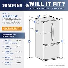 French Door Refrigerator Without Water Dispenser - samsung 25 5 cu ft french door refrigerator with internal