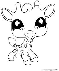 Giraffe Coloring Pages Littlest Pet Shop Giraffe Coloring Pages Printable by Giraffe Coloring Pages
