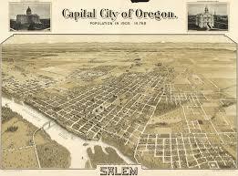 Oregon Maps Koppe U0027s Birdseye Map Of Salem Oregon 1905