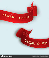 discount ribbon special offer vector ribbon scroll banner sale tag market