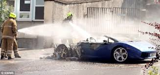 second lamborghini gallardo second lamborghini gallardo bursts into flames imagine