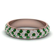 how to find a wedding band emerald and diamond wedding band how to find the emerald