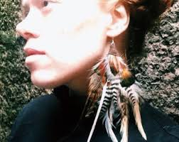 one feather earring one feather earring etsy