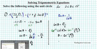 solving trigonometric equations unit circle how to trigonometry