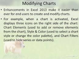 working with charts excel charts an excel chart is simply packed