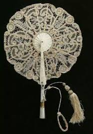 lace fans 50pcs lot black white ivory wedding batten
