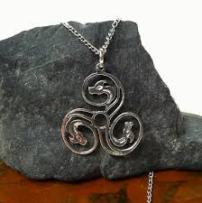 silver dragon pendant necklace images Sterling silver spiral dragon pendant celtic triskelion jewelry jpg