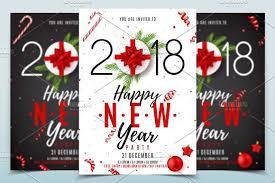happy new year invitation happy new year poster invitation flyer templates creative market