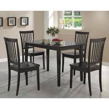 coaster dining room table coaster 5 piece dining set in cappuccino 150152