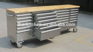 stainless steel workbench cabinets giant stainless steel heavy duty 96 inch 24 drawer tool chest