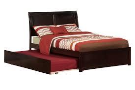 Flat Platform Bed Dark Brown Melamine Finished Teak Wood Flat Platform Bed With