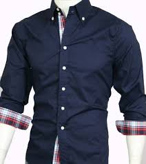 12 men s casual slim fit long sleeve dress shirt dark blue