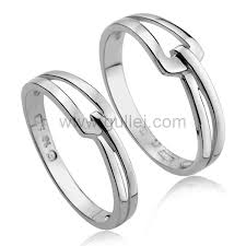 couples wedding rings images Silver couples engagement rings set with custom engraving jpg