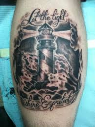 quote and lighthouse tattoo tattoomagz