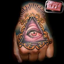 new traditional all seeing eye tattoo in 2017 real photo