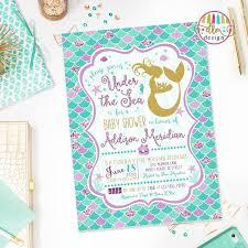 mermaid baby shower invitations invitation for baby shower fascinating the sea baby shower
