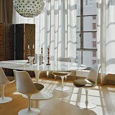 Knoll Dining Table by Knoll Saarinen Large Oval Dining Table 244x137cm White Base