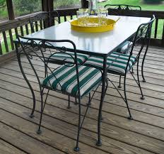 vintage meadowcraft wrought iron glass top table u0026 chairs dining