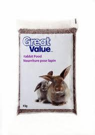 rabbit food great value rabbit food 4kg walmart canada