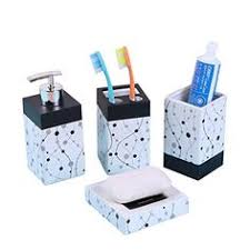 Blue And White Bathroom Accessories by 4 Piece Bathroom Accessory Set Includes 1 Soap Dish 1 Toothbrush